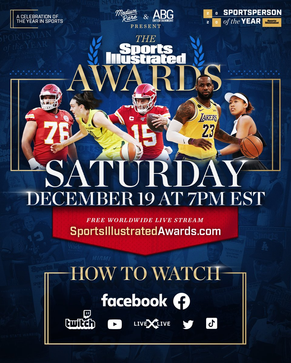 Today's the day! 🙌 We're tuning in for The @SInow  Awards tonight at 7pm EST to see who wins the Best Dressed Award. Be sure to watch LIVE on our Facebook page.