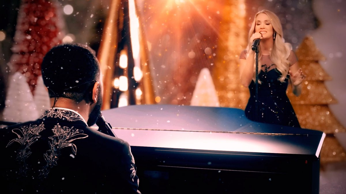 A performance full of hope and magic from @johnlegend and @carrieunderwood, paired with the dreamiest winter backdrop ❄️ Watch this duo perform their song 'Hallelujah' now for #GCPrize.