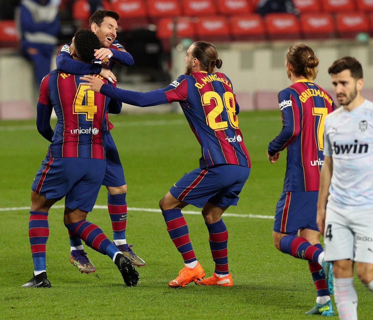 A difficult match today. Unfortunately, not a third win this week. #ForçaBarça