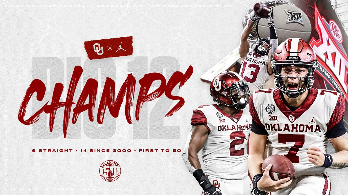 6 straight. 14 since 2000. First to 50.   2020 Big 12 Champions. 🏆  🔗 https://t.co/48RjaC8sX4 https://t.co/X7A3SXMXgz