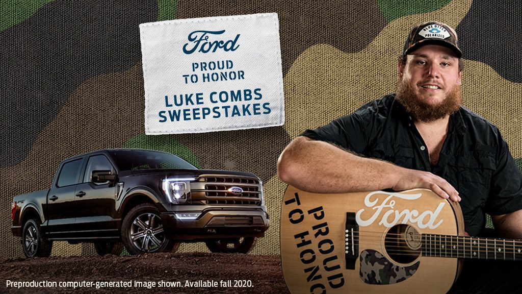 TRUCK GIVEAWAY: Excited to announce I've teamed up with @Ford and their military initiative, #ProudToHonor, to giveaway a 2021 F-150. To enter for a chance to win, click here:   REPLY once you've signed up!