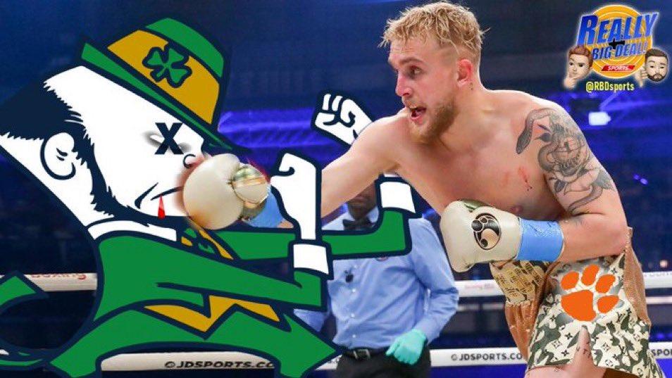 .@jakepaul we know you want to knockout a Fighting Irishman... 😂🤣 #ClemsonFootball #NDvsCLEM https://t.co/J3D6BK0ijk
