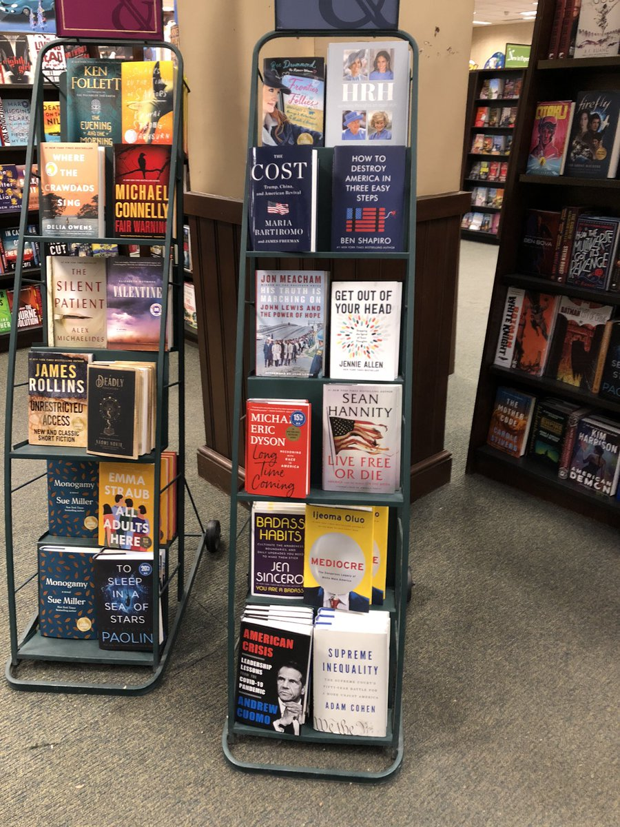 Wow @NYGovCuomo your book was so close to the floor at Barnes & Noble!  Don't worry I put it back in the section where it belongs!