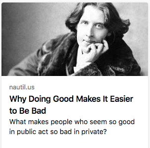 what's the bad thing oscar wilde did in private? be gay? https://t.co/wUkazZdKkm