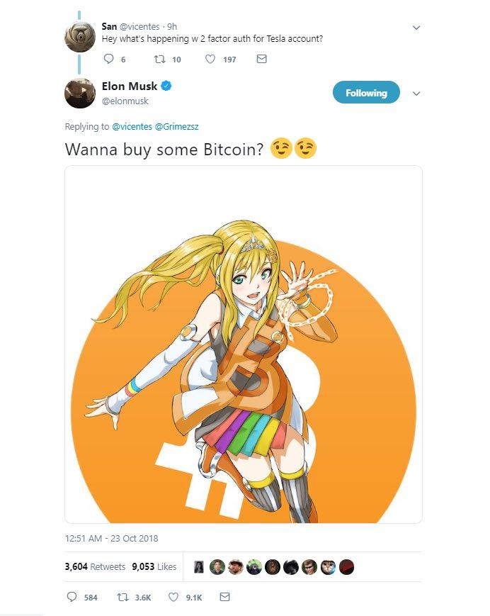 Elon Musk Bitcoin Tweet Meme