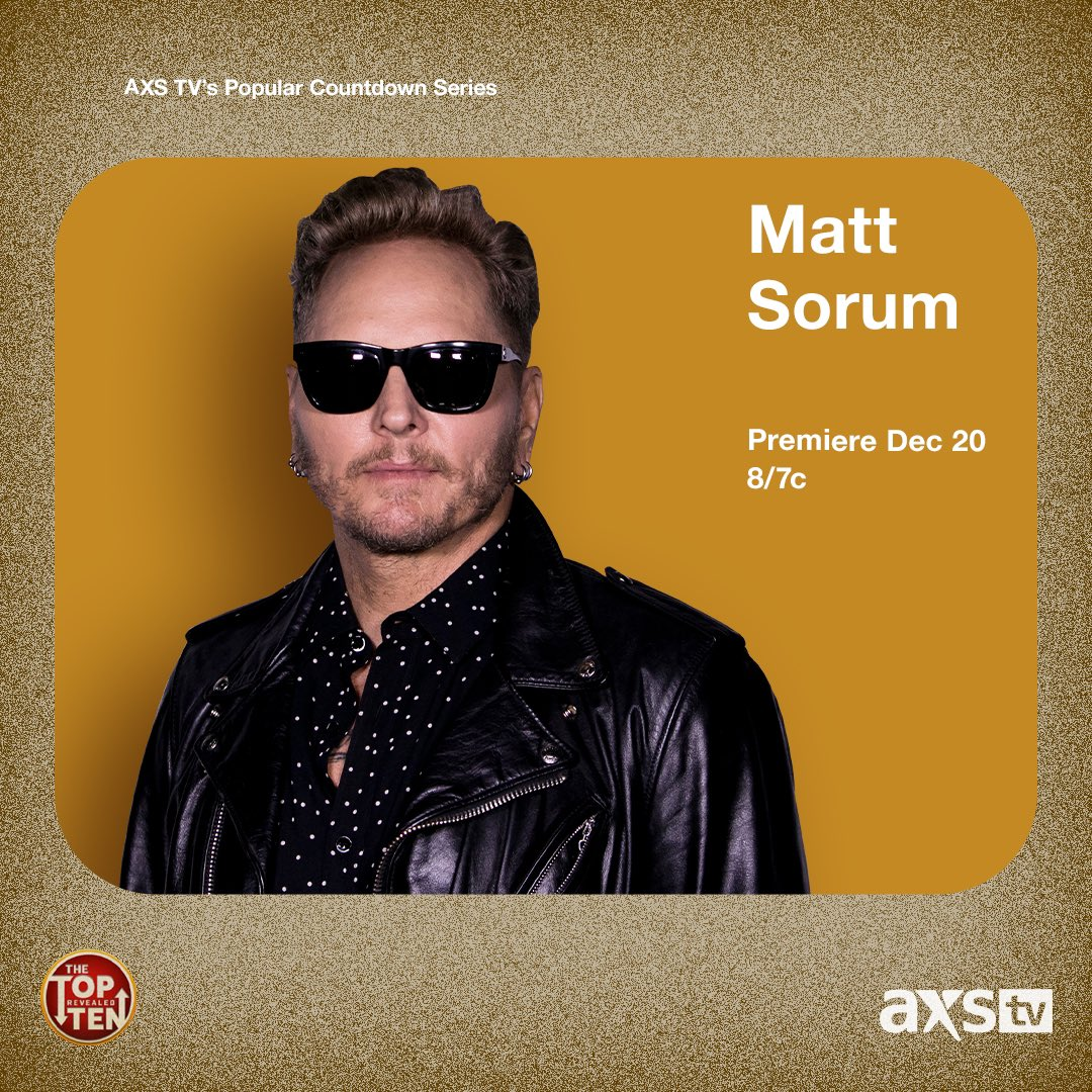 Check me out tonight on @AXSTV Top10 countdown https://t.co/fYy4ZSj6Ah