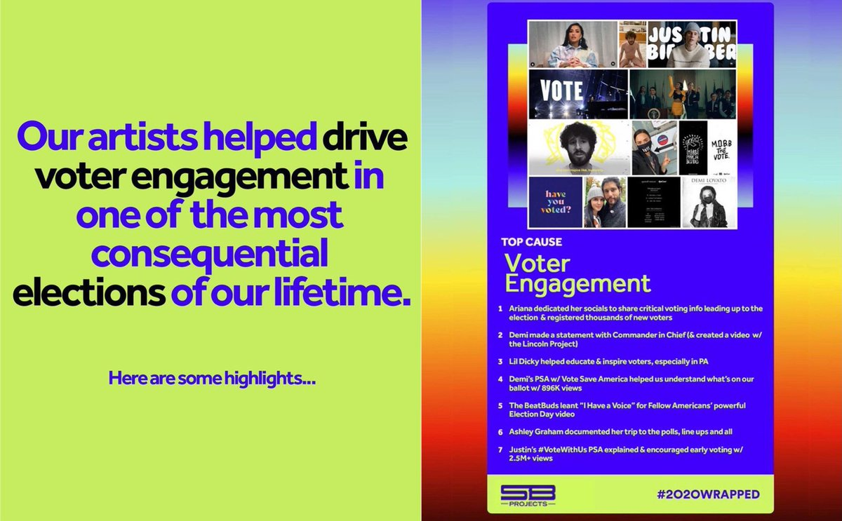 """Justin's #VoteWithUs PSA explained & encouraged early voting w/ 2.5M+ views"""