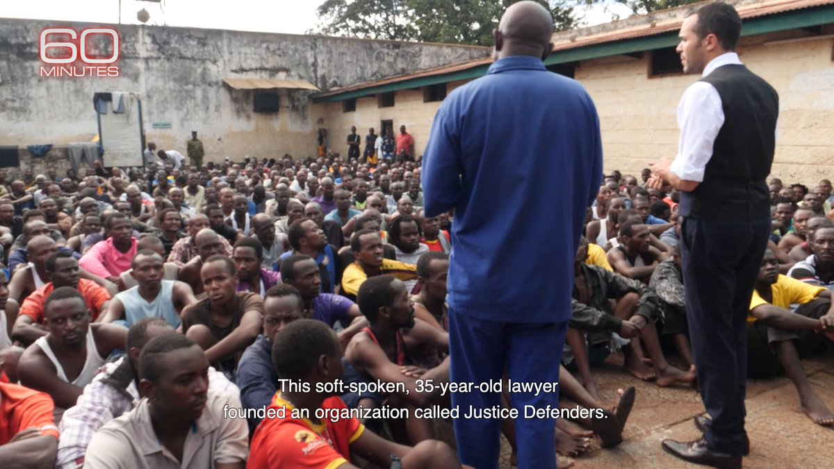 Tonight, @andersoncooper reports on Alexander McLean and his organization Justice Defenders, who are providing legal training to hundreds of inmates in Kenya and Uganda so that they can help their fellow prisoners have a fair trial.