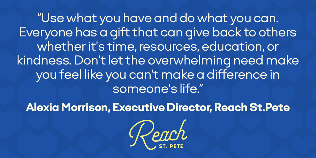Day 8: Today's tip from our Giving Partner, Reach St. Pete, is a powerful reminder that even the smallest act of support can make a difference.