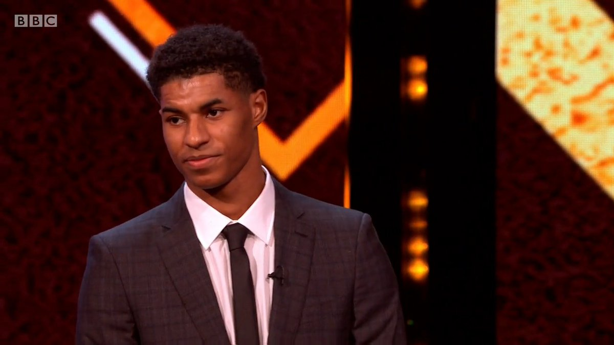 Congratulations Marcus Rashford! 👏  The Manchester United and England footballer is the 2020 BBC Sports Personality of the Year Expert Panel Award winner! 🏆   📲💻 Watch: https://t.co/FqF6sZLPUG  #SPOTY https://t.co/S1gXLobYPi