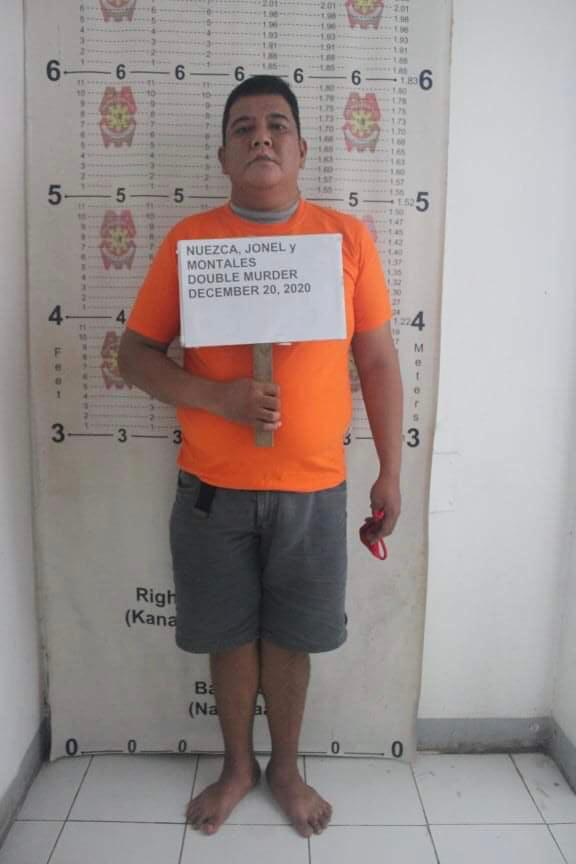 LOOK: Mugshot of Jonel Nuezca, the police officer who shot dead his two neighbors, a mother and her son, in Paniqui, Tarlac. (📷Paniqui Municipal Police Station) | @cgonzalesINQ  READ:
