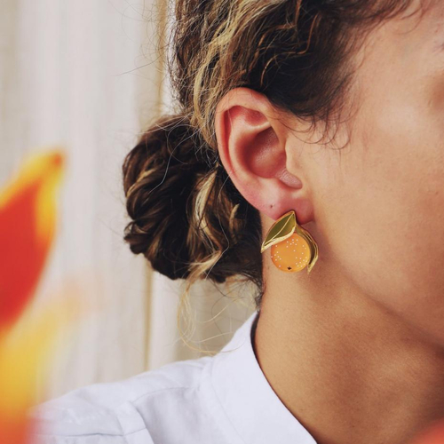 Oranges = Christmas | |  #christmas #earrings #jewelery #wolfandmoon #makers #thesaffronsouk #saffronsouk #makers  #handmade #kids #babies #smallbusiness #shoplocal #dubaimoms #shopsmall   #igers #love   #supportlocaldxb