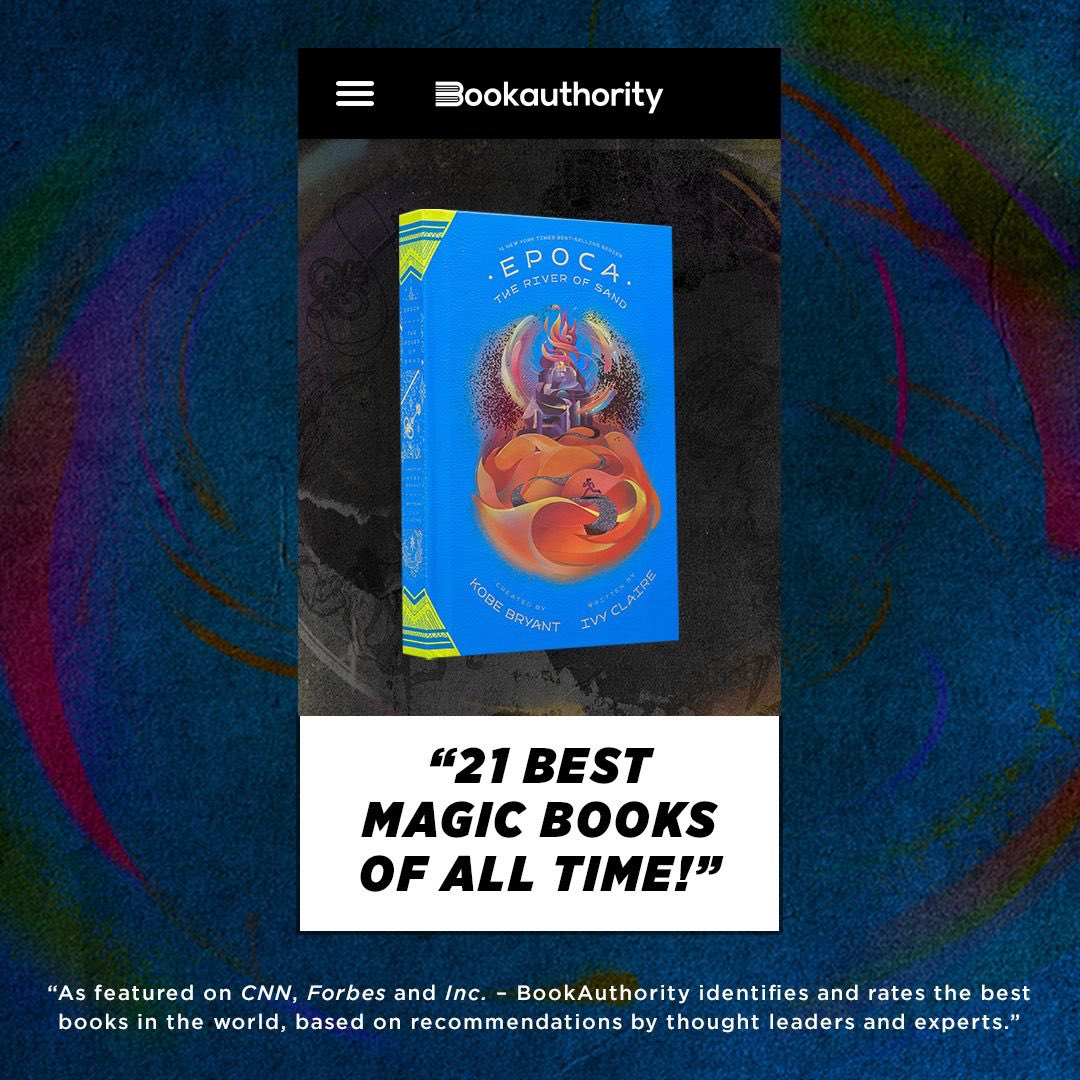 So excited to announce that #EPOCA: The River of Sand was included in Book Authority's list of the best magic books of all time! We are grateful for the overwhelmingly positive response to our latest novel and wishing you all the happiest of holidays. #GranityStudios