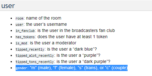 """....whyyy does S stand for trans in the @chaturbate API??? Was it originally """"shemale"""" and they never"""