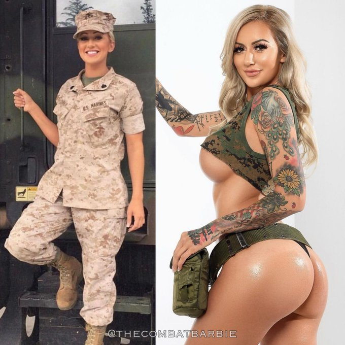 Isn't @thecombatbarbie the sexiest Marine vet you've seen?! 😍🇺🇸🔥 Follow her & show her some love @thecombatbarbie