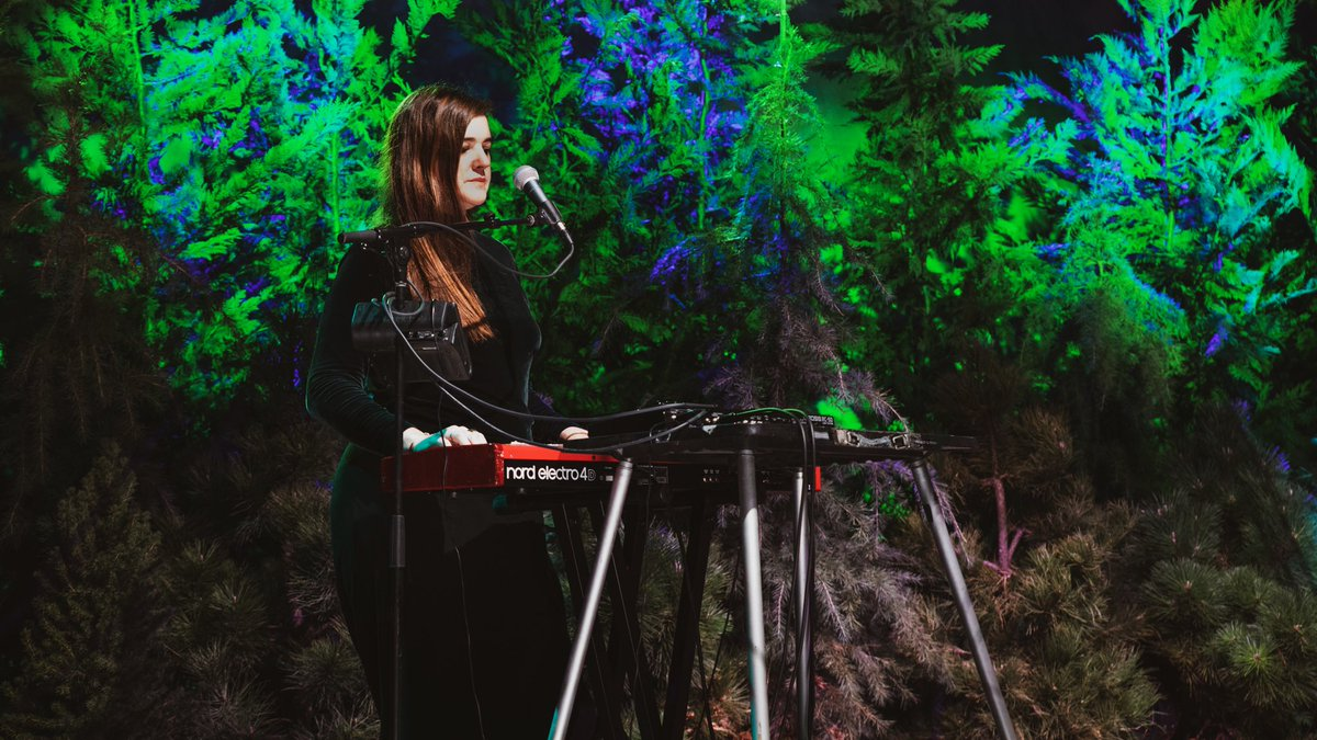 On stage at Eco Mode: Starlet of NYC's experimental music scene @juliannabarwick composes an ethereal masterpiece before our eyes with just her voice. Tune in:  #RogueRoutes