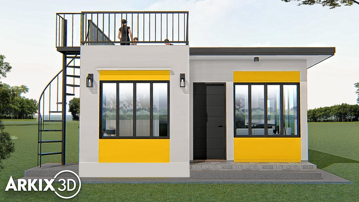 Arkix3d On Twitter Simple And Small House With Roof Deck 6x6m 36sqm Https T Co Ltvy3cbleq