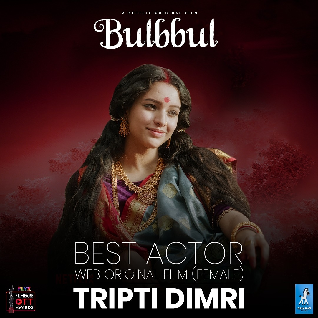 Congratulations @tripti_dimri23 on bagging the @filmfare award for Best Actor, web original film (Female) @NetflixIndia  @AnushkaSharma @kans26 #Anvit @shrishtiarya  @avinashtiw85 @RahulBose7 @paoli_dam @paramspeak @manojmittra @saurabh0903 @anshai