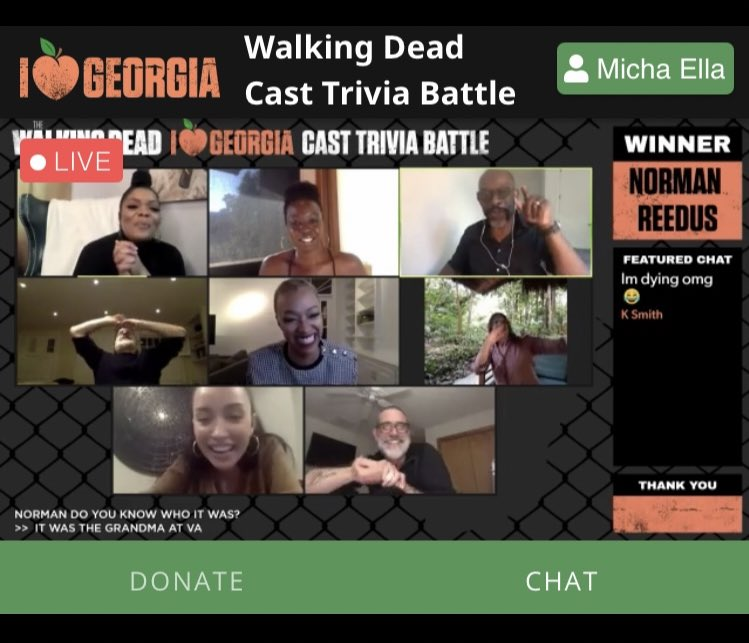 Congrats Norman on winning the #TWDReunion Trivia Battle #TWD #TWDFamily
