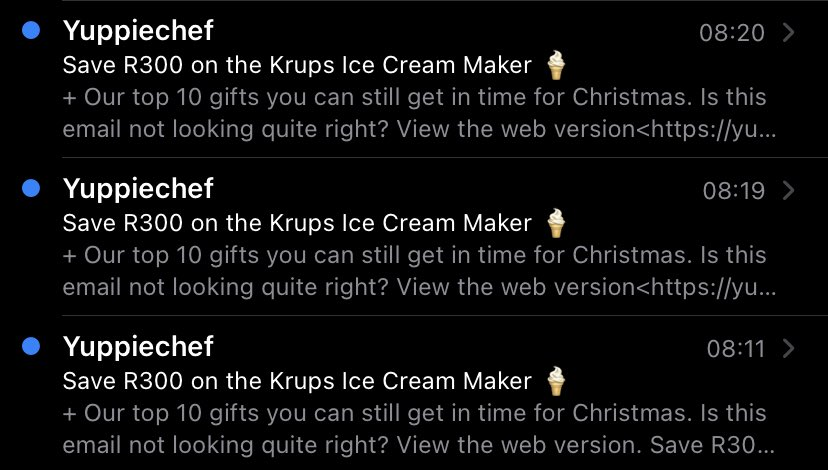 Anthraxza - Apparently ⁦@yuppiechef⁩ thinks I need an ice cream maker for Christmas.