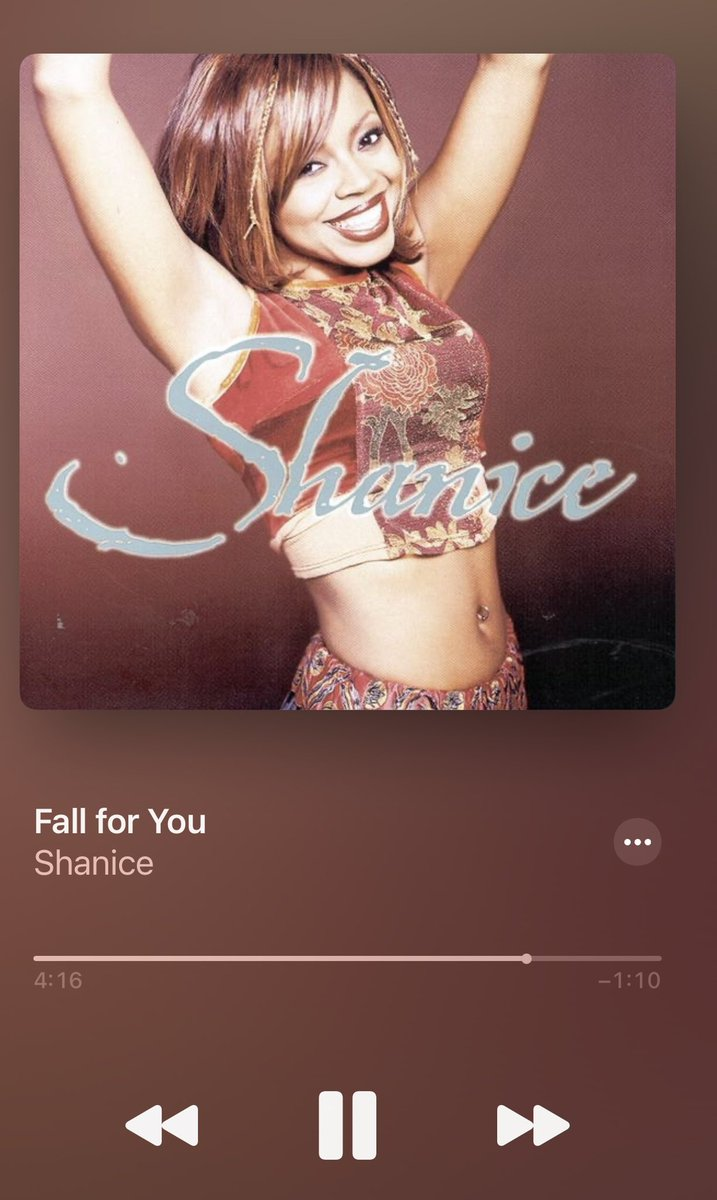 By far, one of the best song that @KennyEdmonds has even written and one of the most beautiful songs @Shaniceonline could ever sing.   The arrangement.  Layered vocals.   Just, iconic.