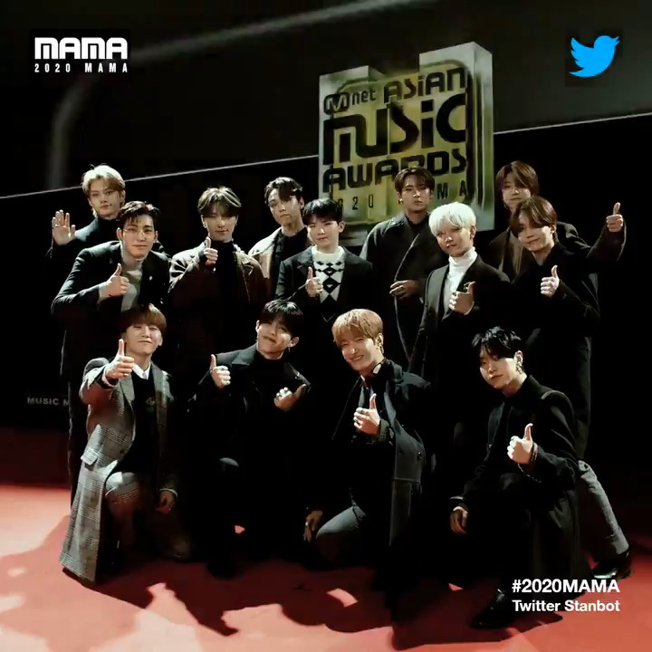 [#2020MAMA_Stanbot] Check #2020MAMA #Twitter #Stanbot Closer Look of #SEVENTEEN @pledis_17 !