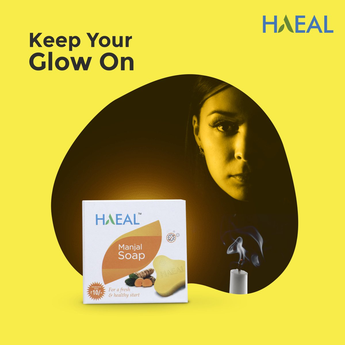 Use HAEAL Manjal Soap daily to give your skin that youthful glow. #manjalsoap #turmeric #ayurveda #haealwellness #health #soap #turmericsoap #letshaeal #happinessinhealing Get your glow at