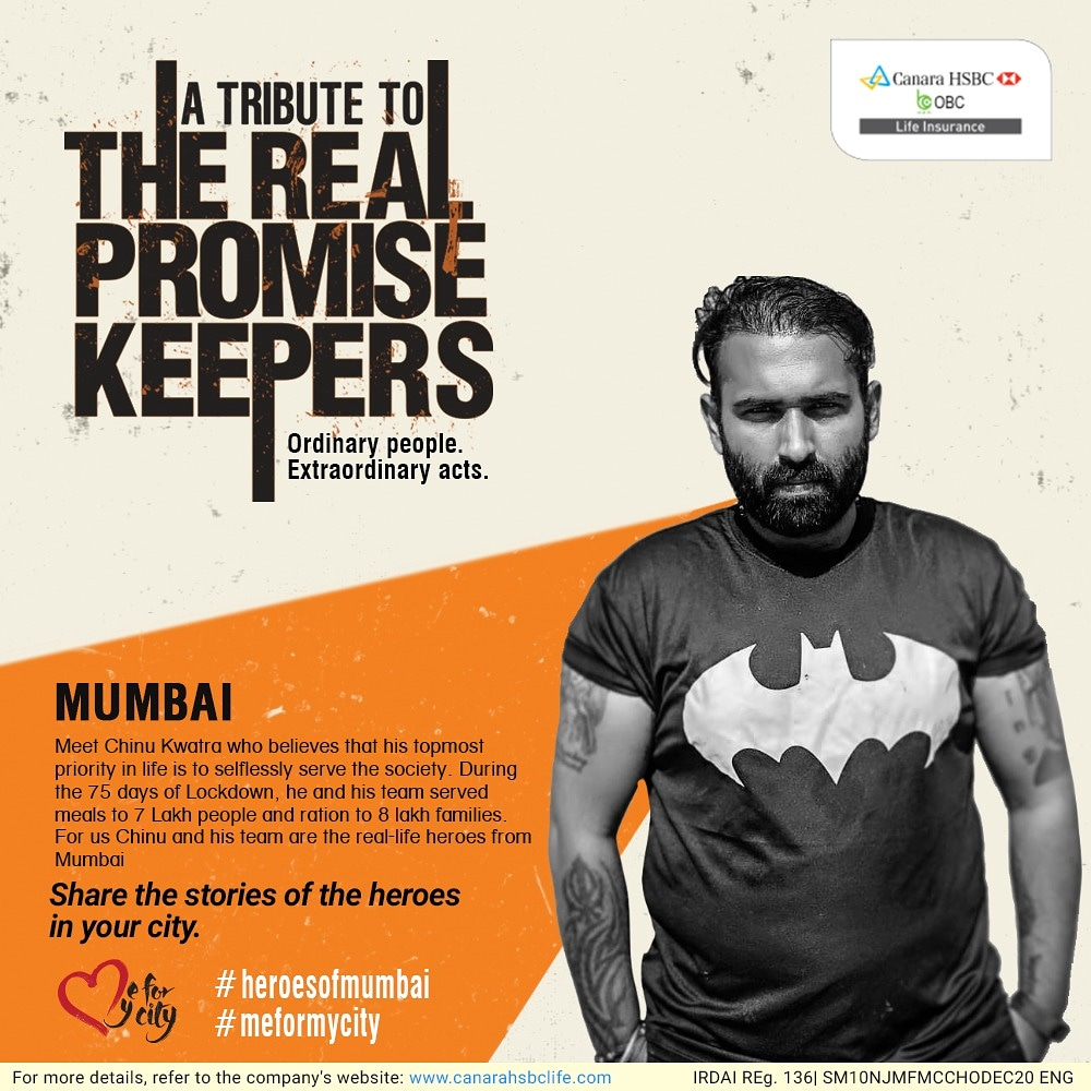 During the Lockdown, Chinu Kwatra & his team served meals to 7L people & ration to 8L families. He is a real-life hero from Mumbai.  You too must know a real-life hero in your city, so share their stories, tagging us & using #meformycity #heroesofmycity #heroesof<yourcityname>