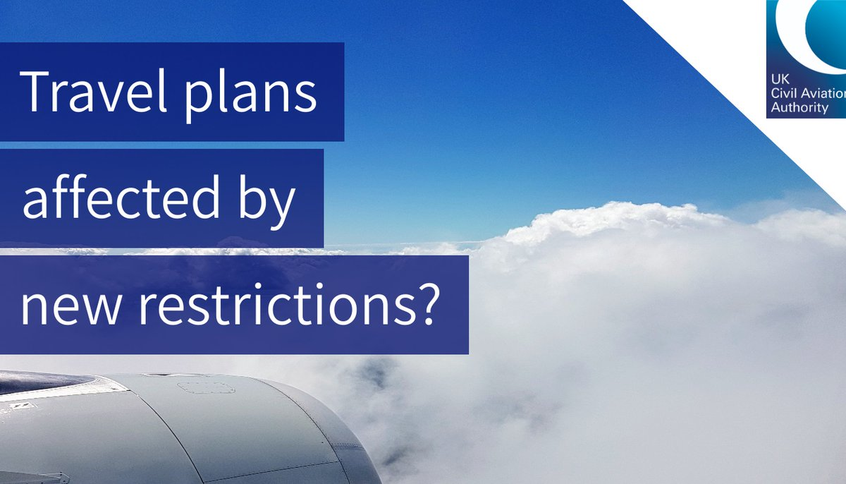 Have your travel plans been affected by recent border closures or Tier 4 restrictions? You should speak to your airline for support in the first instance.  We have updated the consumer advice and guidance on our website to reflect the latest news: