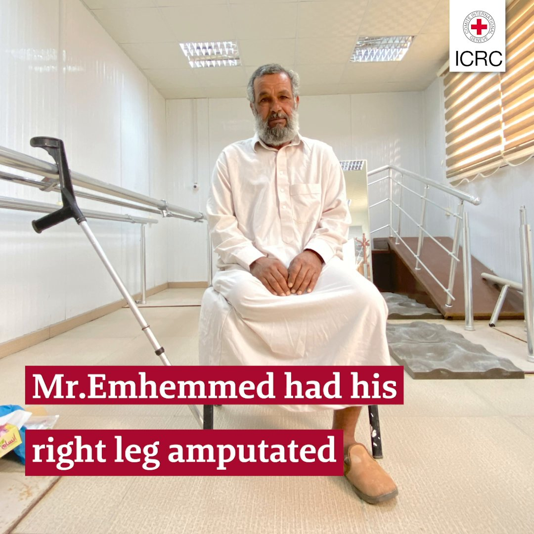Mr. Emhemmed was shot in the leg during the conflict in Libya.  This is the difference a prosthesis made. #IDPWD2020
