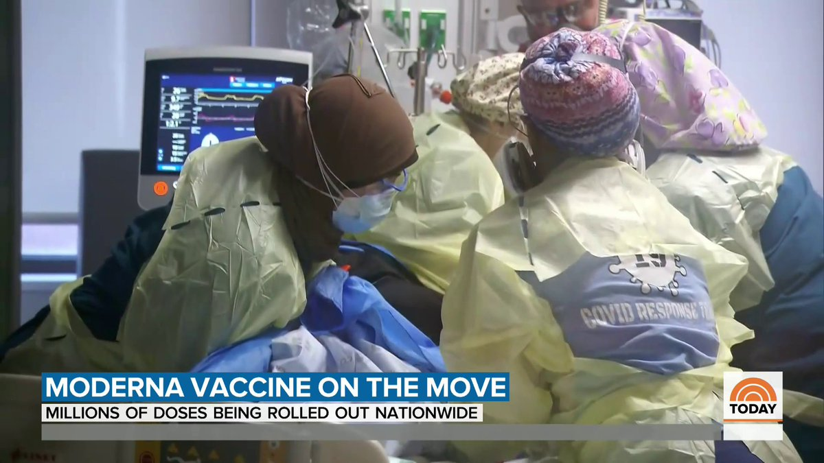 Today the second COVID-19 vaccine is being delivered around the country, this comes as cases and deaths are rising at alarming rates. @tomcostellonbc has more.