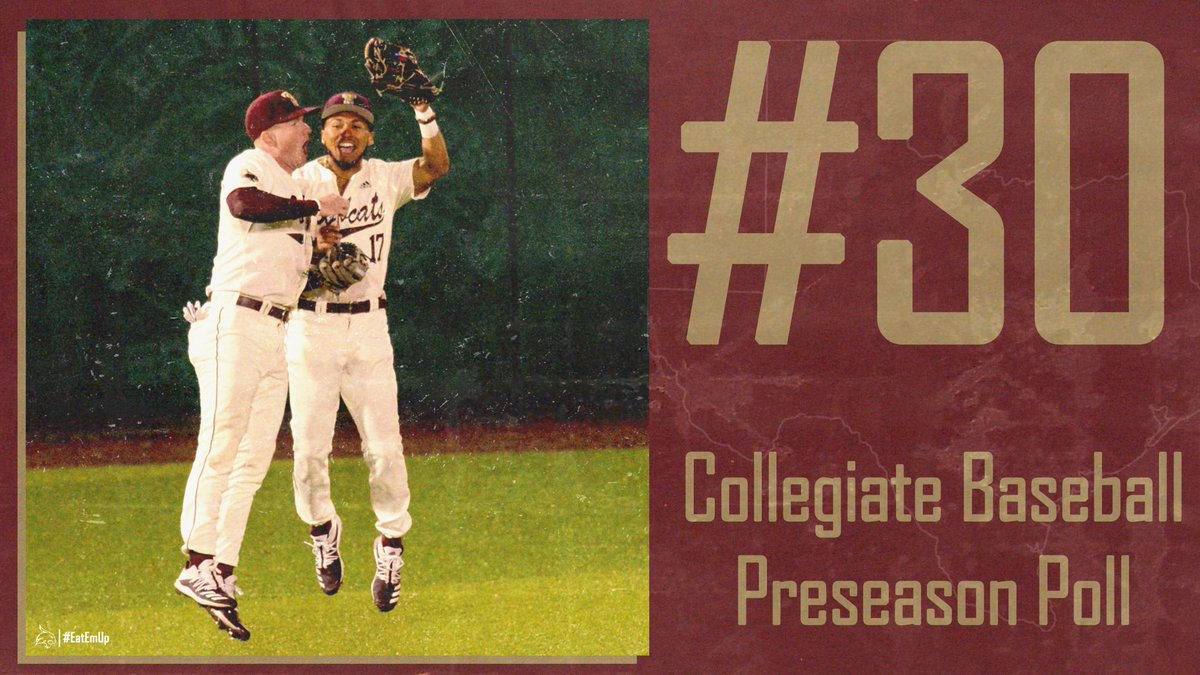 Come in at #30 in the @CBNewspaper Preseason Poll for the highest preseason ranking in program history! 🔗: bit.ly/3rhreUK #EatEmUp #ComebackStrong #SunBeltBSB