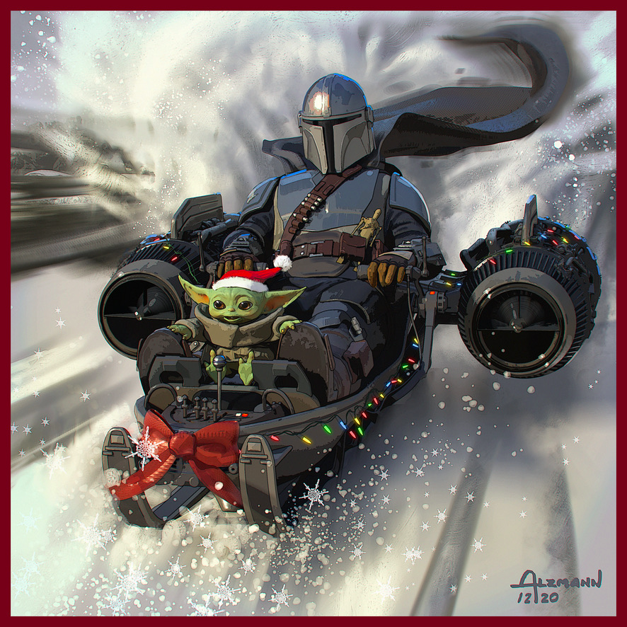 Making spirits bright. This is the way. Happy Holidays from everyone at Lucasfilm.