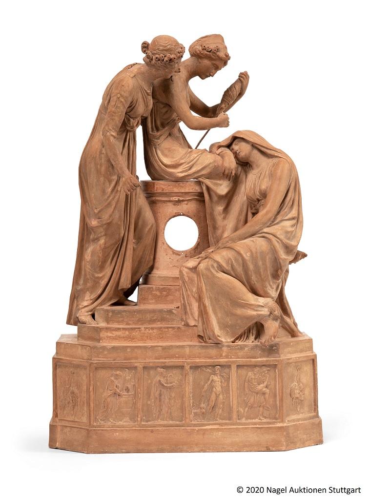 [#PresseLouvre]  Le #Louvre annonce l'acquisition, pour le département des #Sculptures, des « Trois Parques », modèle pour une pendule du sculpteur néo-classique allemand Johann Heinrich Dannecker (1758 – 1841).  Retrouvez notre communiqué de presse 👇