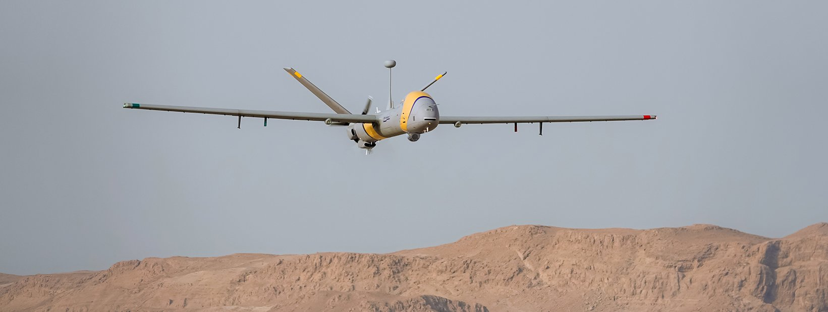 Picture of the StarLiner, a remotely piloted aircraft, about to land.