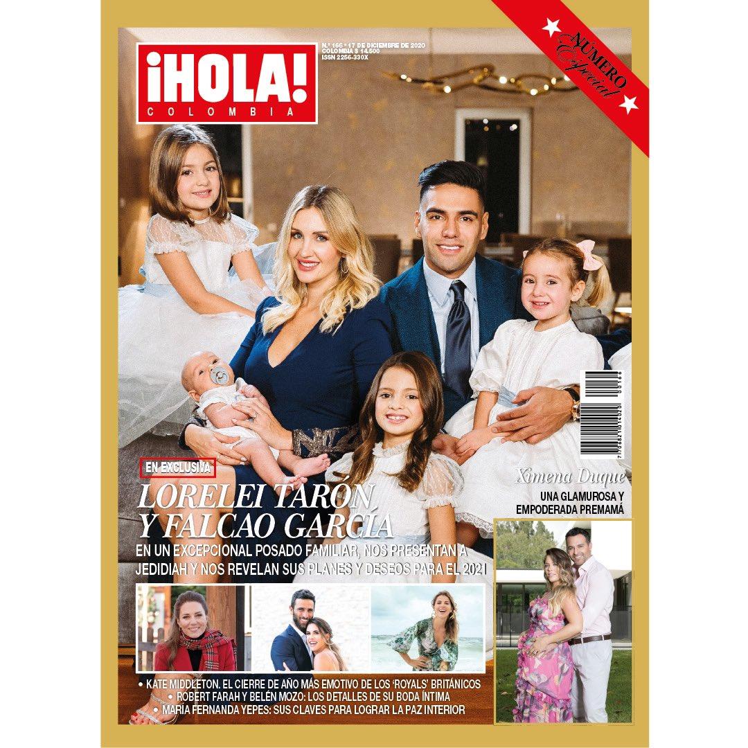 Desde el calor de su hogar en Estambul, y en exclusiva para ¡HOLA! Colombia, @LoreleiTaron y @FALCAO se vistieron de gala, en compañía de sus tres hijas y Jedidiah, que nació en medio de la pandemia, para celebrar la llegada de un nuevo año. Fotos:Ismael Jordan