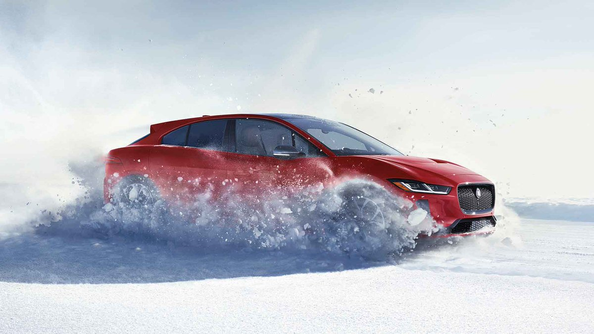 Out she came, we saw her! Dressed in red - head to toe. It's Mrs. Claus, she loves the I-PACE and how it looks in the snow.  Mrs. Claus was our mystery customer, and she's ready to hit the road. She's got the best ride in the North Pole, and she's in EV mode! 🤶