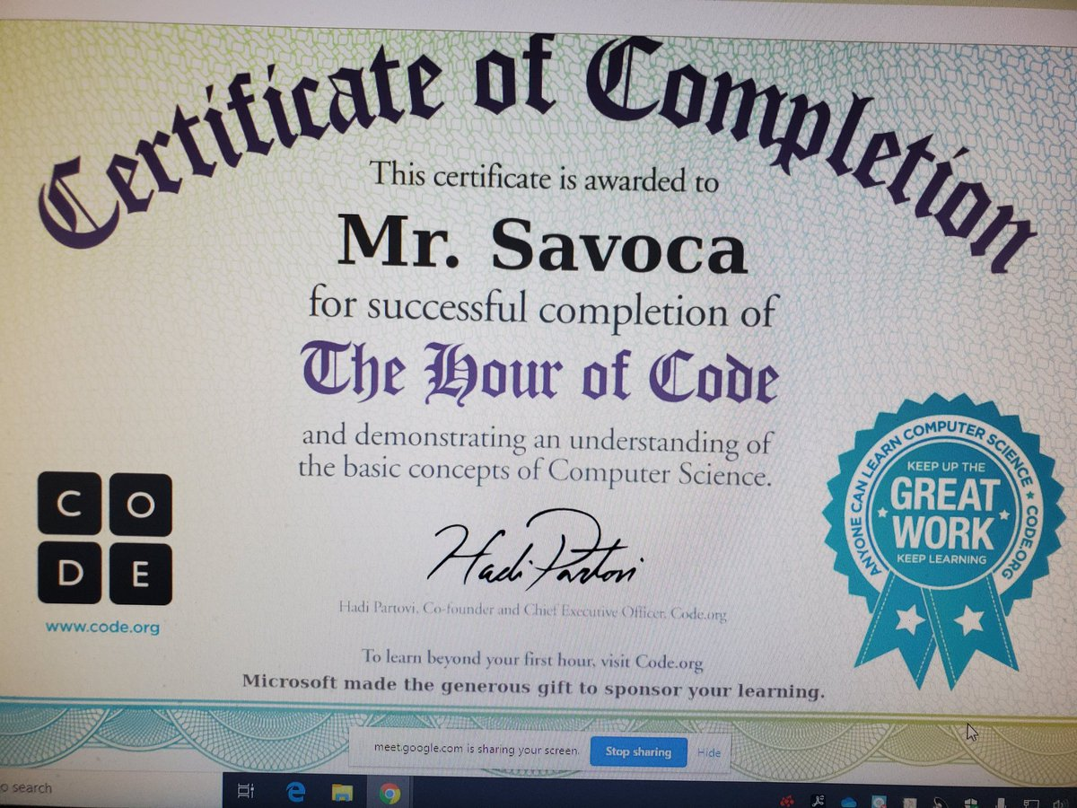 """Outstanding job done by our BMS MS101 students taking part in our """"HOUR OF CODE"""" project! AMAZING WORK! @MassapequaPS @BernerChiefs #HourofCode #CSEdweek"""