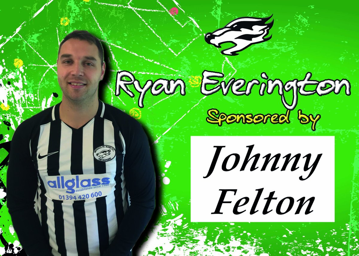 Next up in our 20/21 player sponsors...Ryan Everington 🦡  A key goalscorer for Benhall over the years, Ev is confident he can get firing on all cylinders again soon 👊   On his day 🔥🔥   Ryan is sponsored by Johnny Felton this season! #Badgers