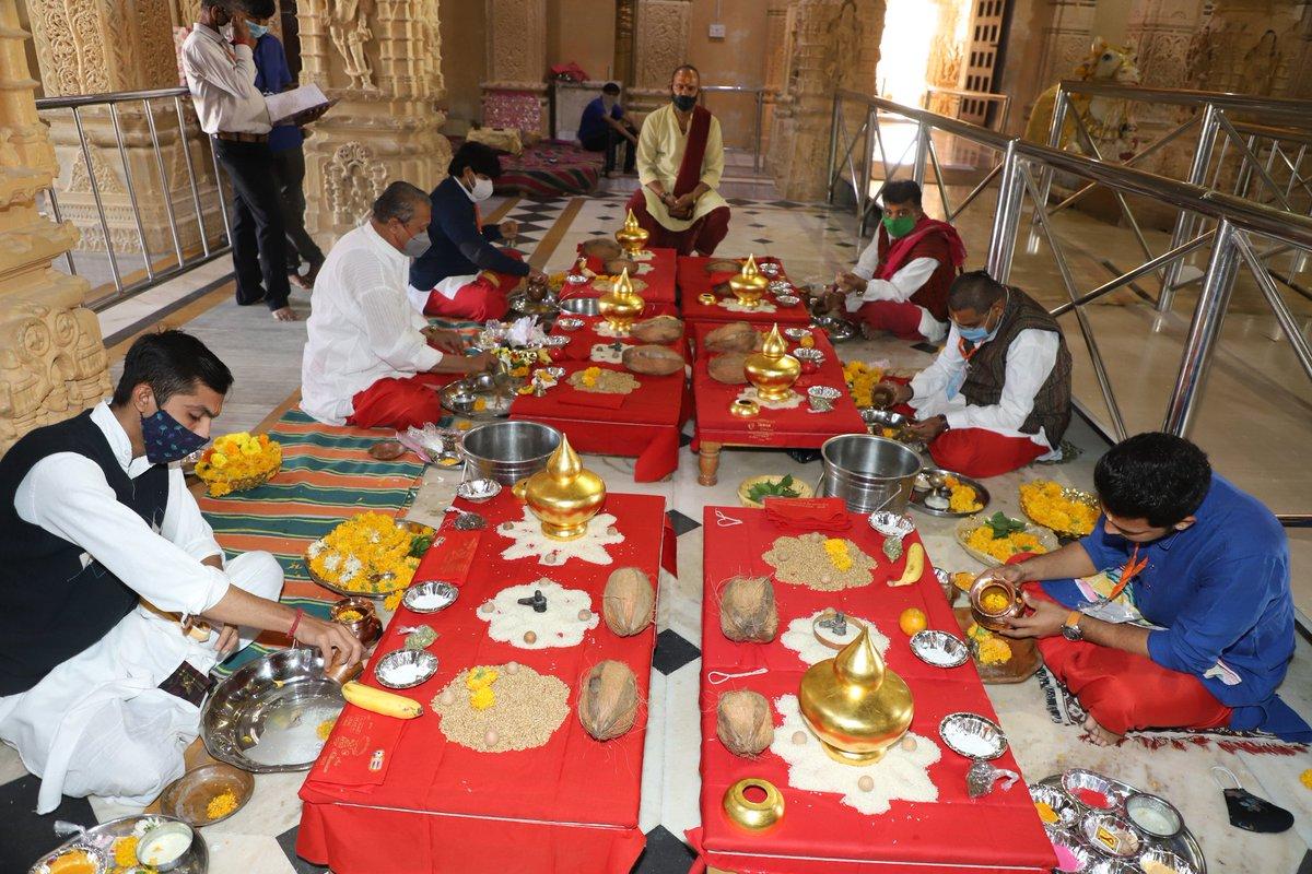 Gold plating of 66 kalash completed atop Somnath mandir