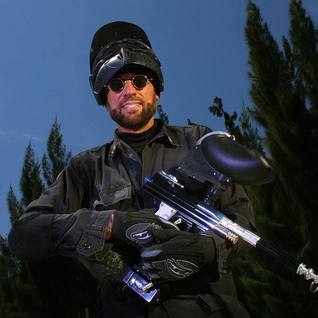 Maurice Gibb: musician and paintball extraordinaire. #throwback (📸: Preston Mack, photo via pmack99 on Instagram)