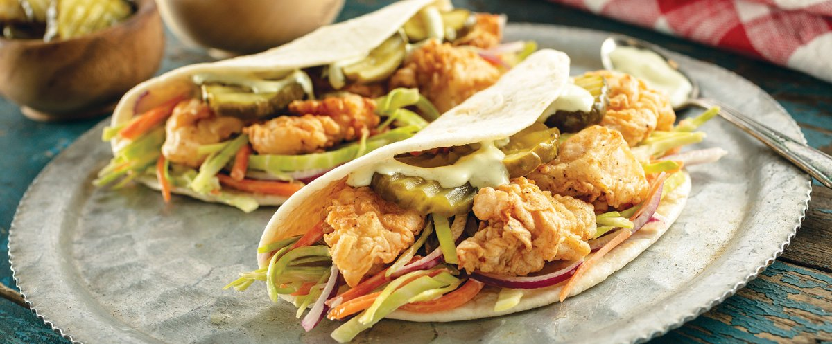 Are you ready to fall in love with this Fried Chicken Taco recipe? #SodexoLoveOfFood #recipe