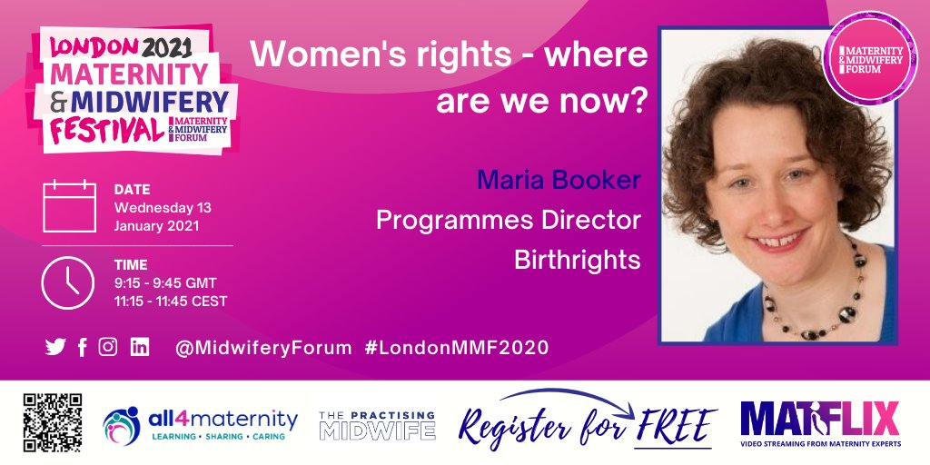 Our Programmes Director @mariacbooker will be speaking on 'Women's rights - where are we now?' at the London Maternity and Midwifery Festival @MidwiferyForum next Wednesday.  Get your tickets on the link below! ⬇️ https://t.co/WT4G7I8C9I