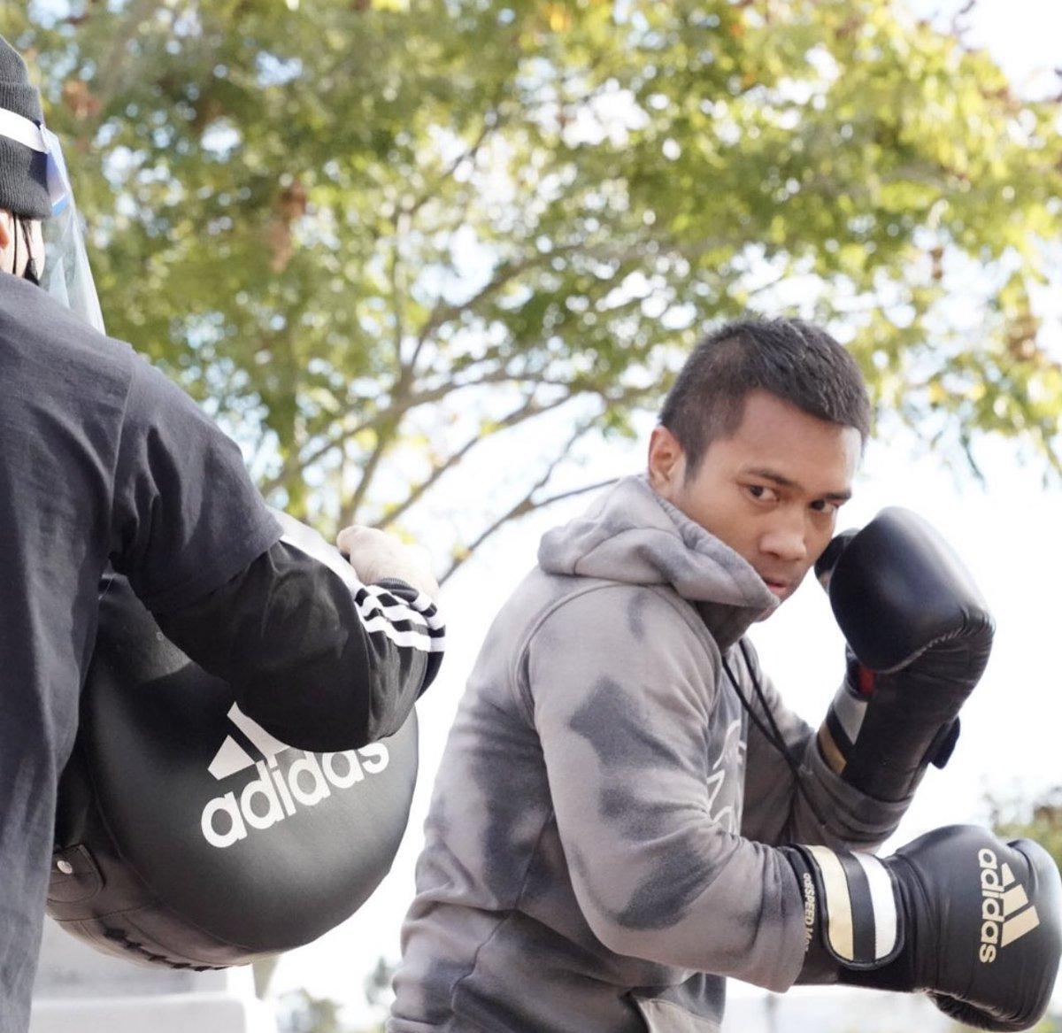 Ignore the noise and stay focused on your goals!  #ReadyForSport #StayingReady #AdidasBoxing  #HomeTeam #HereToCreate #LabanSaBayan #Boxing #MercitoGesta  @GoldenBoyBoxing @WildCardBoxing1 @adidasLA @adidas @mrboxingguru @chrisdessalles @DAZNBoxing   📷: @NeilMacasadia
