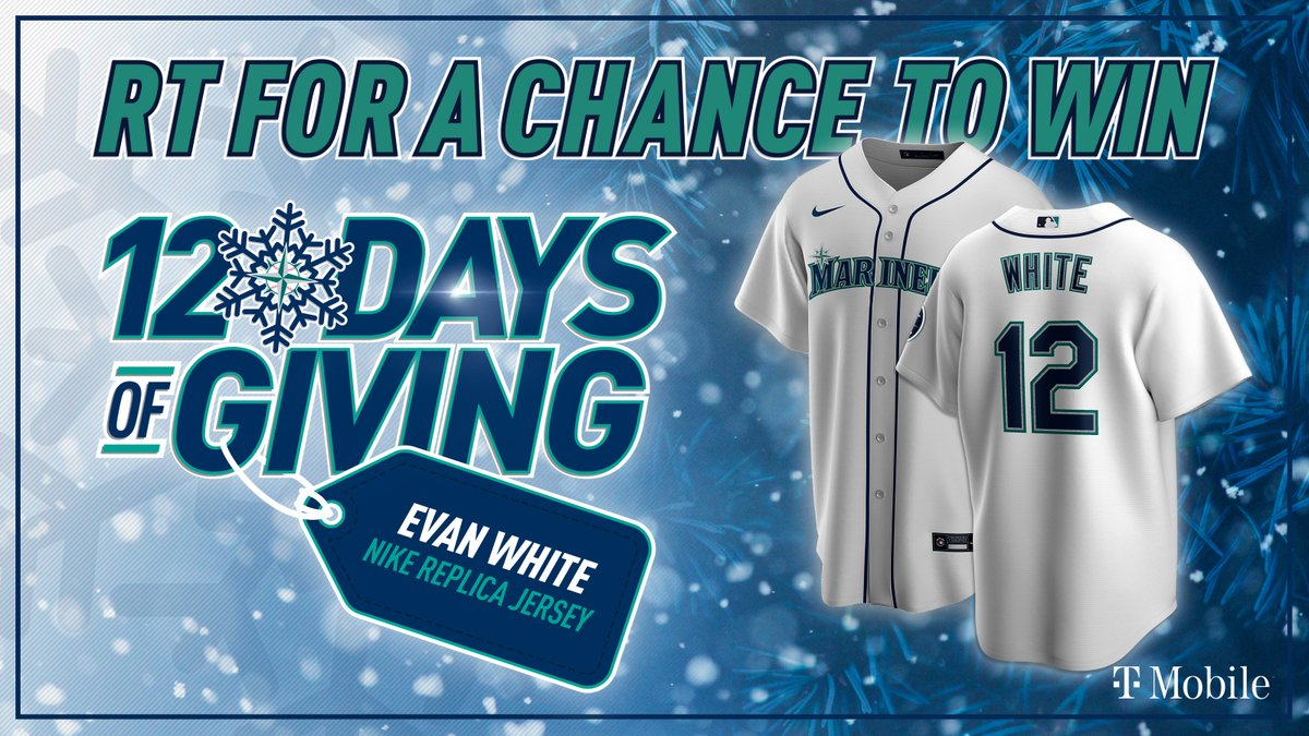 ⛄ RT TO WIN ☃️   Press that retweet button for a chance to win an Evan White Nike replica jersey from the @MarinersStore! #12DaysOfGiving   Rules: No purch. nec. Enter by 11:59 pm PT on 12/28/2020.