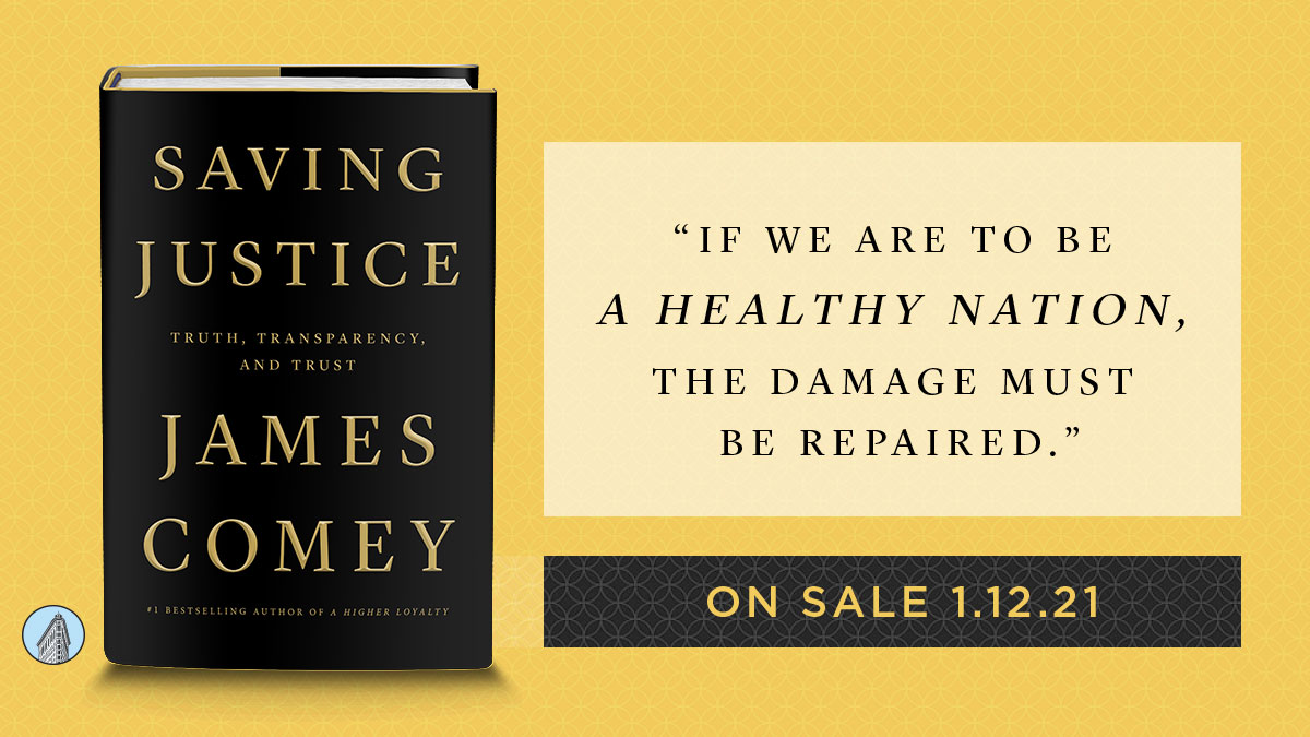 The new book from @comey shares lessons learned from his career in federal law enforcement to explore the US justice system. Preorder now  #comey #savingjustice