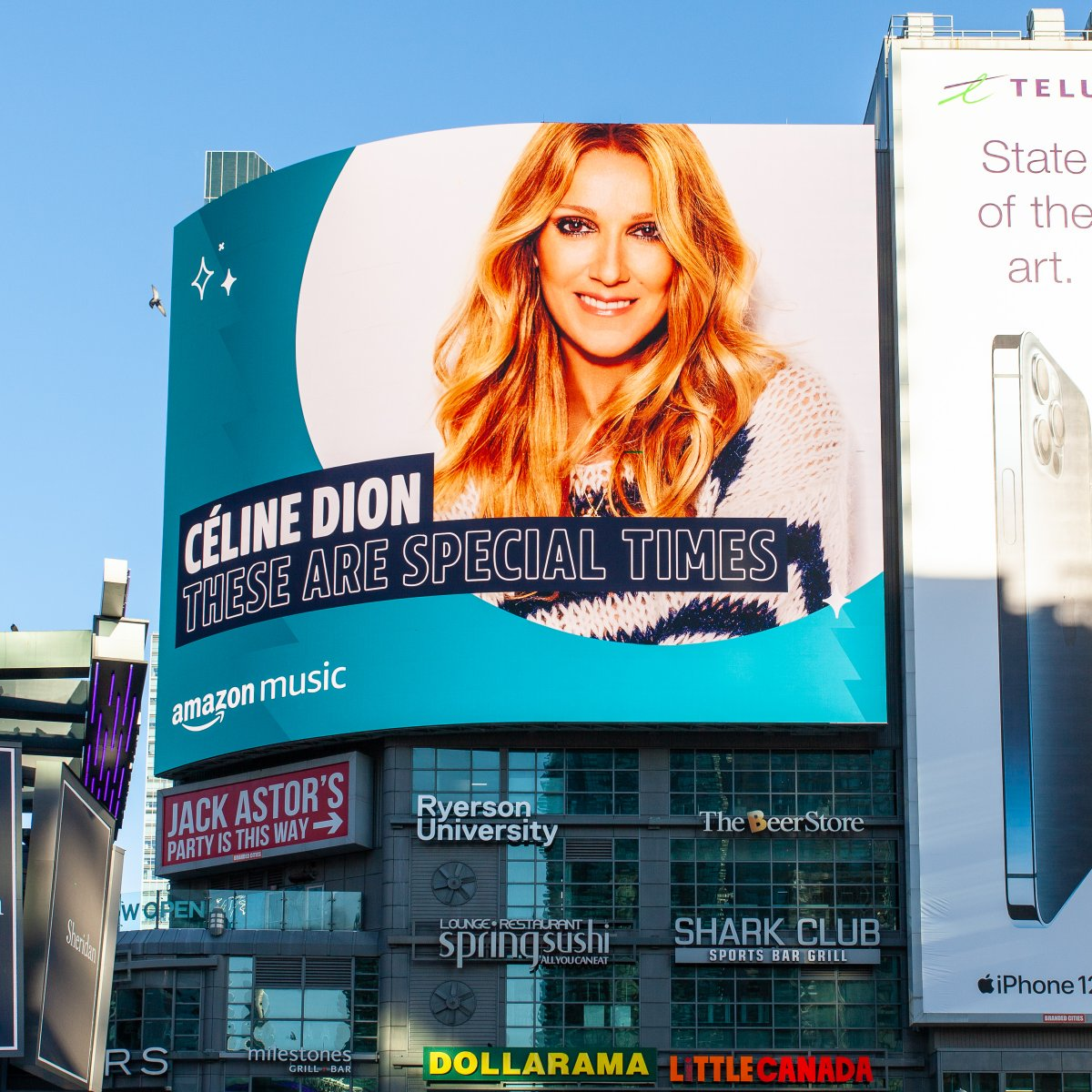 Christmas is in the air, and Celine is in the streets of Toronto and Montreal! Thank you @amazonmusic Listen to These Are Special Times (including a new track)   Noël est dans l'air, et Céline est dans les rues de Toronto et Montréal! Merci Amazon Music -TC