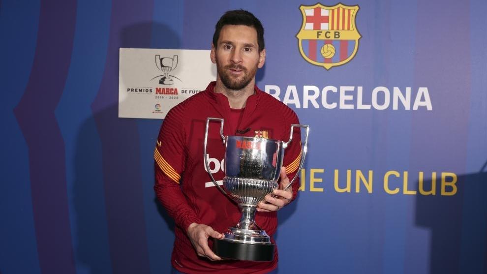 #Messi supera la mítica marca de Zarra #PremiosMarca2020