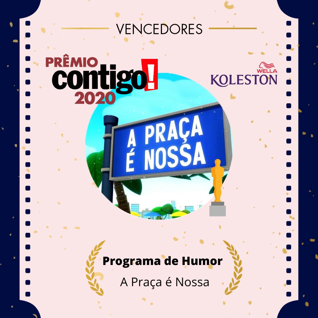 A praça é nossa venceu o #PremioCONTIGO2020 de Melhor Programa Humorístico. @wellabr #Paixaoporcabelos #KolestonNoitesIluminadas