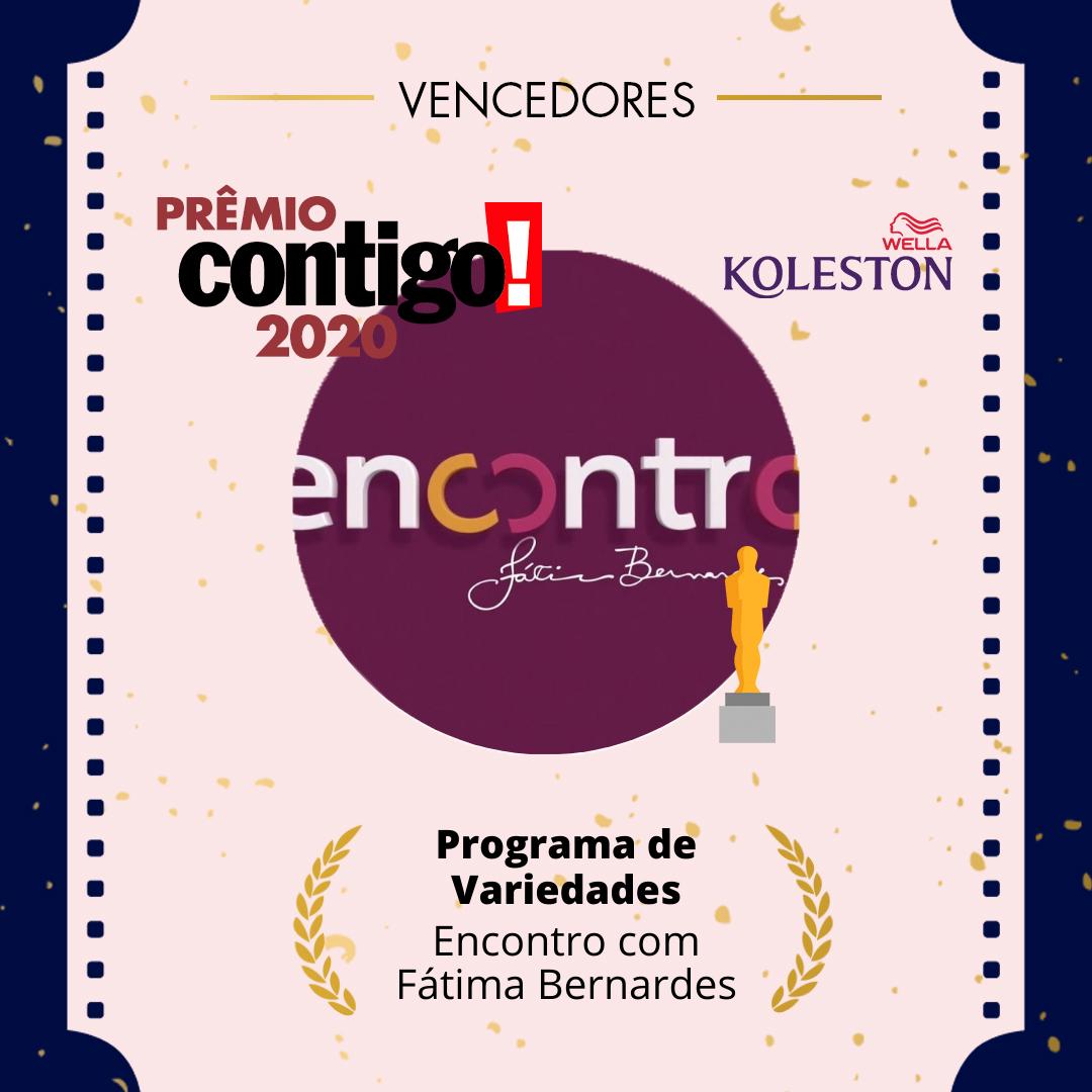 O @EncontroFatima venceu a categoria de Melhor Programa de Variedades no #PremioCONTIGO2020. @wellabr #Paixaoporcabelos #KolestonNoitesIluminadas